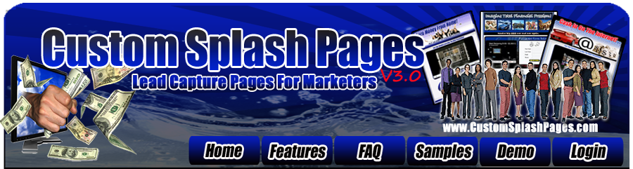 Custom Splash Pages, Lead Capture Page