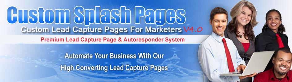 Lead Capture Pages | Capture Page |  Custom Splash Pages