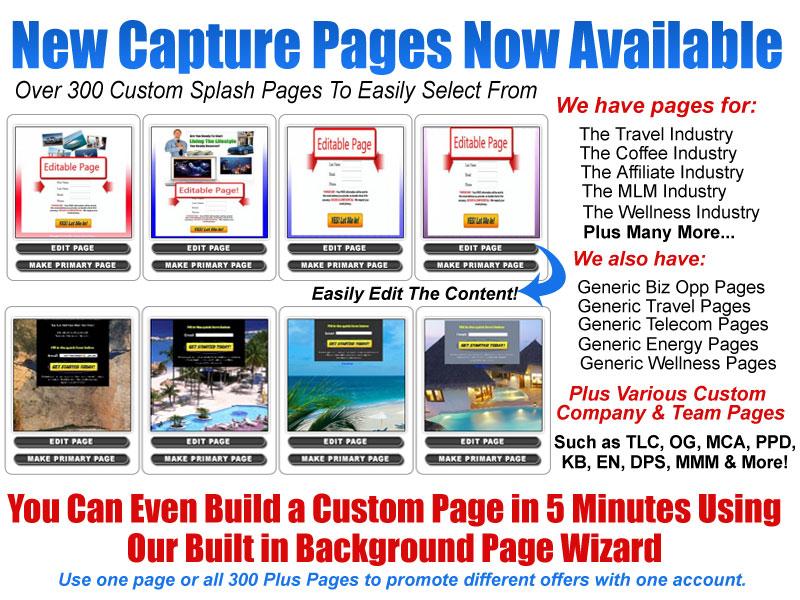 Lead Capture Pages Capture Page Custom Splash Pages